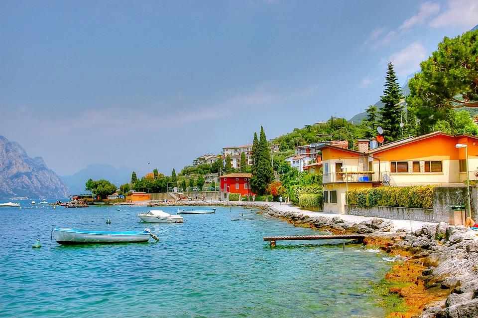 Landscape Garda Vacations Water Italy Malcesine